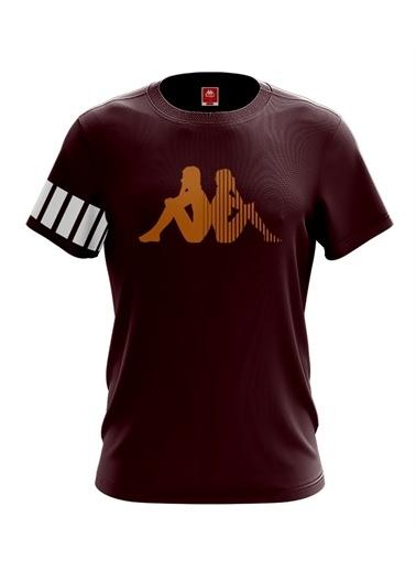 Kappa Baskılı T-Shirt Connery  Bordo